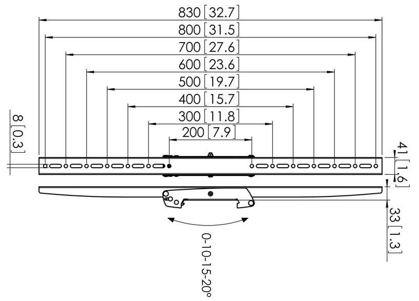 Televizoriaus laikiklis Vogels PFS3308 Display Interface Strips Tilt