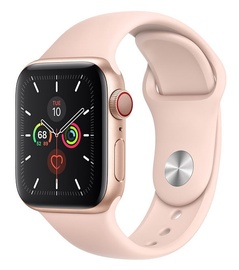 Apple Watch Series 5 40mm GPS Gold Aluminium Case with Pink Sand Sport Band Cellular