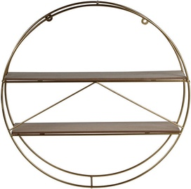 Plaukts Verners 4Living Triangle Wall Shelf 500x500x100mm Gold