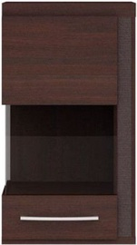 Black Red White Iberia Glass-Door Cabinet Right Chestnut Oak