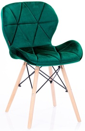 Homede Silla Chairs Velvet 4pcs Ever Green
