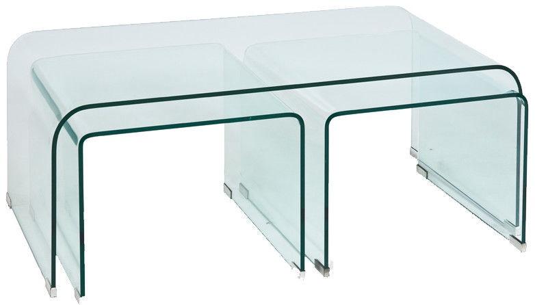 Kafijas galdiņš Signal Meble Lia Priam A, caurspīdīga, 1200x420x600 mm