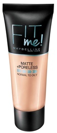 Kreminė pudra Maybelline Fit Me Matte + Poreless 220 Natural Beige, 30 ml