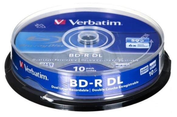 Накопитель данных Verbatim BD-R, 50 GB