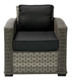 Home4you Geneva Arm Chair Dark Grey