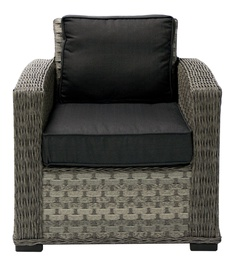 Home4you Geneva Arm Chair Dark Grey