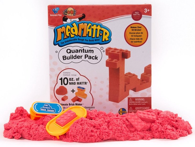 Kinetinis smėlis Relevant Play Mad Mattr Quantum Builders Pack Red, 283 g