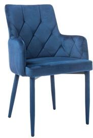 Стул для столовой Signal Meble Ricardo Velvet Navy Blue, 1 шт.