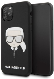 Karl Lagerfeld Iconic Embossed And Glitter Back Case For Apple iPhone 11 Pro Black
