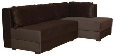 Bodzio Corner Sofa Judyta Velor Right Brown
