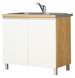 Bodzio Monia Lower Cabinet For Sink 90 White/Brown