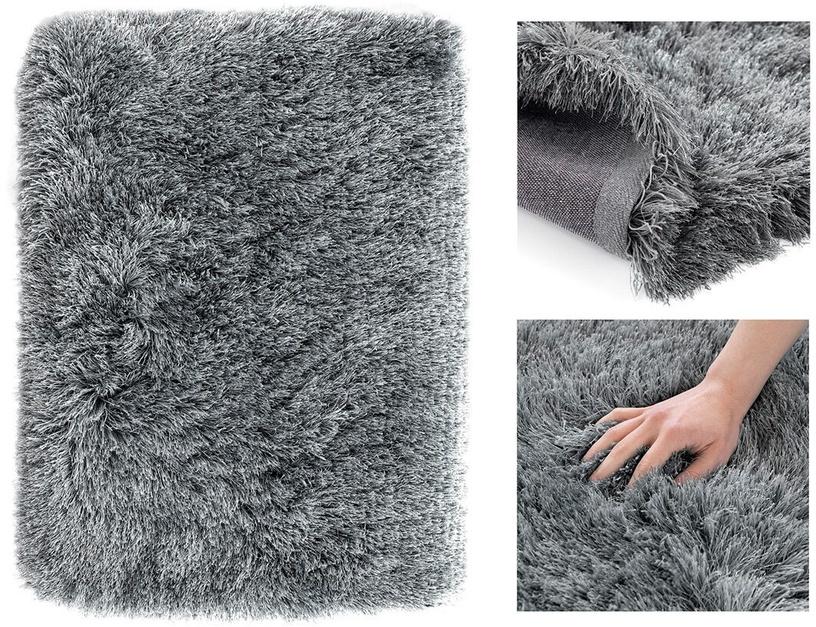 Ковер AmeliaHome Floro, серый, 200x160 см
