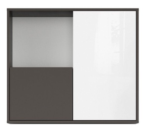 Black Red White Graphic SFW2D Cupboard Grey/White