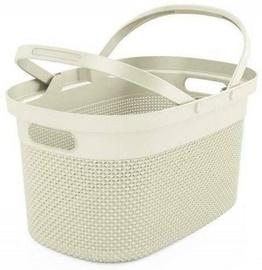 KIS Filo Shopping Basket 45.5x30x24cm Ivory