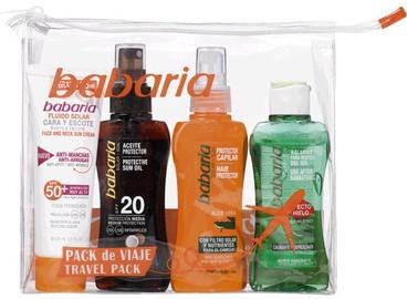 Babaria Face Cream Anti-Wrinkles SPF50+ 75 ml + Protective Sun Oil SPF20 200ml + Aloe Vera Hair Protector 100ml + After The Sun Ice Effect 100ml + Bag