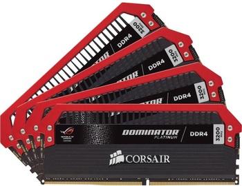 Corsair Dominator Platinum ROG Edition 32GB 3200MHz CL16 DDR4 KIT OF 4 CMD32GX4M4B3200C16-ROG