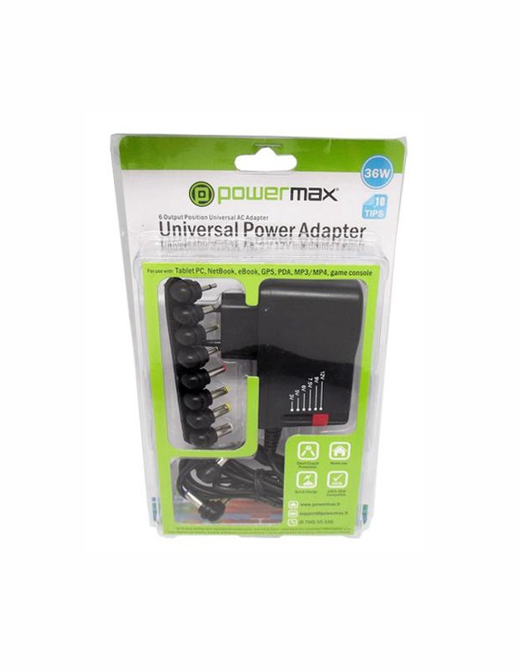 Universalus kompiuterio kroviklis Powermax PNCU03, 220V, 10AN, 36 W