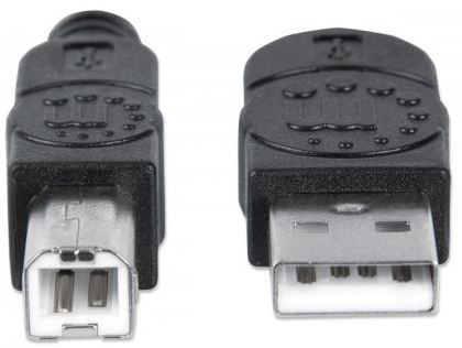 Manhattan Cable USB to USB Black 1m