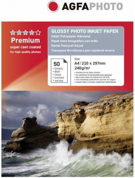 Fotopaber AgfaPhoto Premium Glossy Photo Paper A4 240 50pcs