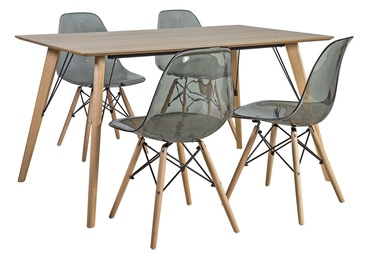 Home4you Helena/Smoky Dining Set Grey/Oak