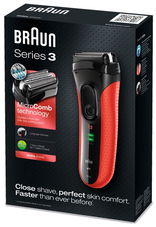 Braun Series 3 3030 Black/Red