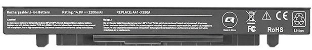 Qoltec Long Life Notebook Battery For Asus X550 2200mAh