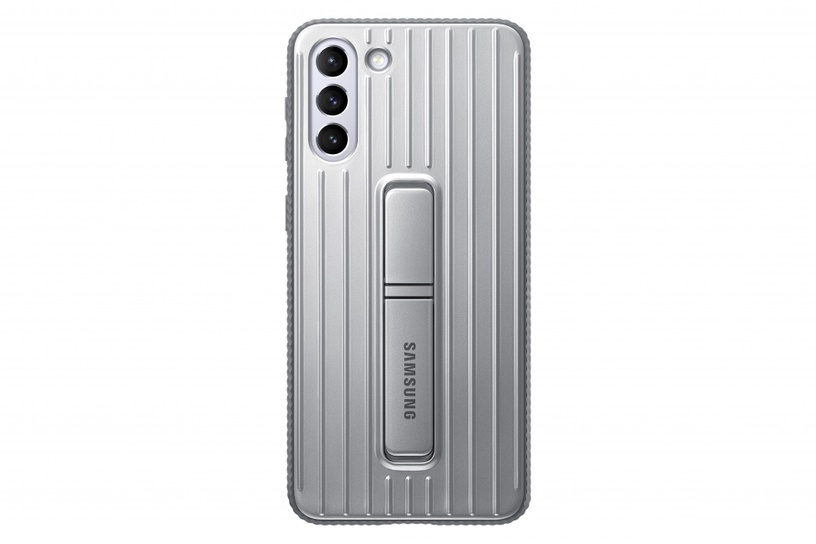 Samsung Protective Standing Back Case For Samsung Galaxy S21 Plus Light Gray