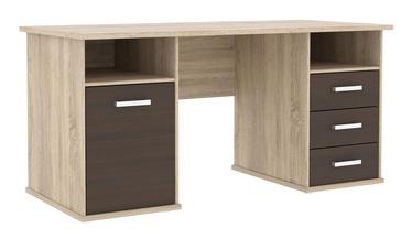 Rašomasis stalas su stalčiais ir spintele 148 x 74,5 x 69 cm