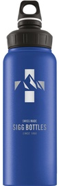Sigg Water Bottle Mountain Wide Mouth Blue 1L
