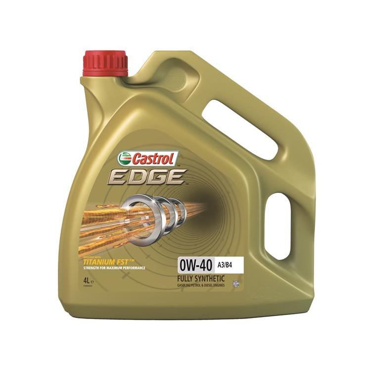 Automobilio variklio tepalas Castrol Edge Tit A3/B4, 0W-40, 4 l