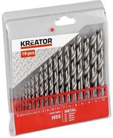 Kreator Metal HSS Drill Set 1 - 10mm 19PCS