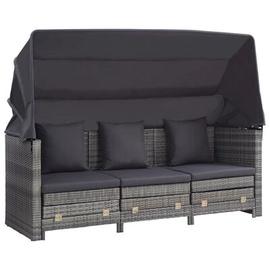 Комплект уличной мебели VLX Folding Sofa With Roof 46077, серый, 3 места