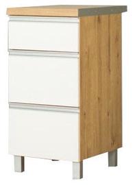 Alumine köögikapp Bodzio Monia 40 White/Brown, 400x520x860 mm
