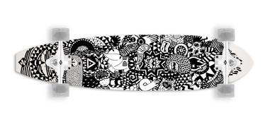 Скейтборд Street Surfing Rumble Jungle 36, белый/черный