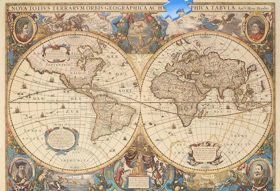 A Picture Of The World Map.Dėlionė Ravensburger Puzzle Antique World Map 5000pcs