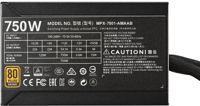 Cooler Master MasterWatt 750W MPX-7501-AMAAB