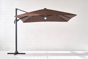 Sodo skėtis Masterjero Bright Night Big, su LED apšvietimu, 3 x 3 m