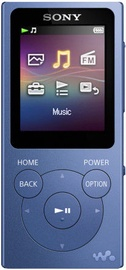Музыкальный проигрыватель Sony NW-E393, синий, 4 ГБ