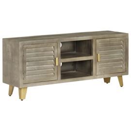 TV galds VLX Solid Mango Wood 246681, pelēka, 300 mm x 1100 mm x 480 mm