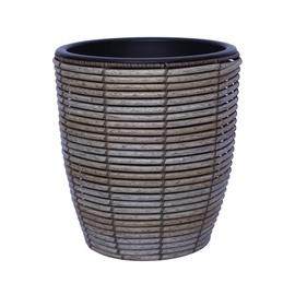 Home4you Wicker Flowerpot D28x30cm Grey