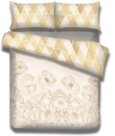 AmeliaHome Snuggy Golden Poppy Bedding Set 200x220/80x80 2pcs