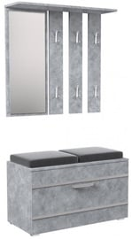 Top E Shop Opal Wardrobe Concrete