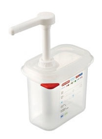 Stalgast Pump Dispenser For Sauces G/N 1/9 1.5l White