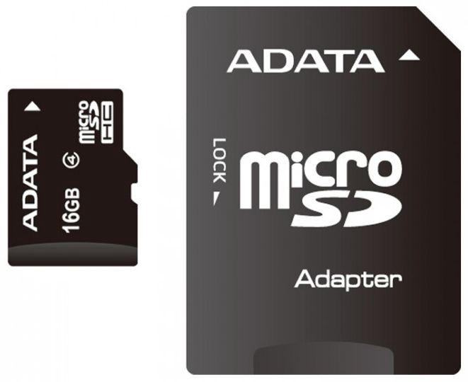 Adata Micro SDHC CARD 16GB CLASS 4 + Adapter