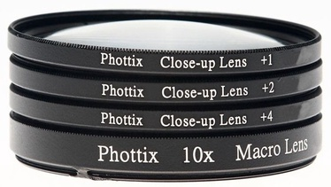 Phottix +1 / +2 / +4 / 10X Macro Close-Up Lens 77mm