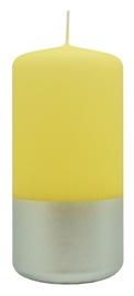 Diana Candles Pillar Silver/Yellow Candle 5.8x12cm