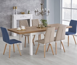 Pusdienu galds Halmar Tiago, balta/ozola, 1400 - 2200x800x760mm
