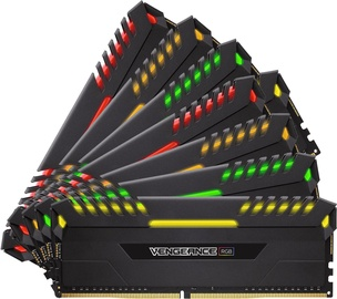 Corsair Vengeance RGB LED Series 64GB 4133MHz CL19 DDR4 KIT OF 8 CMK64GX4M8X4133C19
