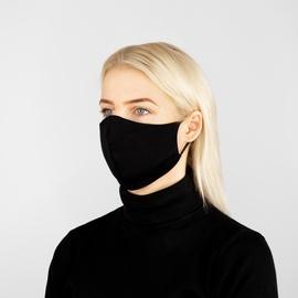 Daugkartinė veido kaukė, juoda