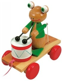 Woodyland Pull Along Frog With Drums 90196